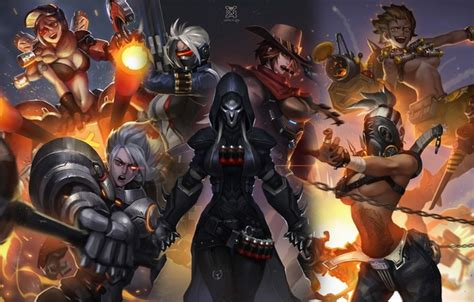 hot female overwatch characters wallpaper female characters art blizzard overwatch