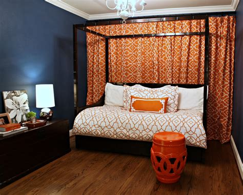 bedroom wall curtains bedroom interactive picture blue orange cool spare room