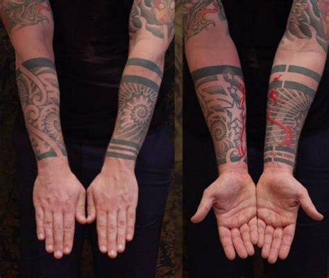 great geometry wrist tattoo by state of grace