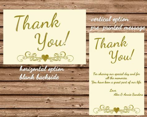 50th Wedding Anniversary Ivory Thank You Cards ? Party