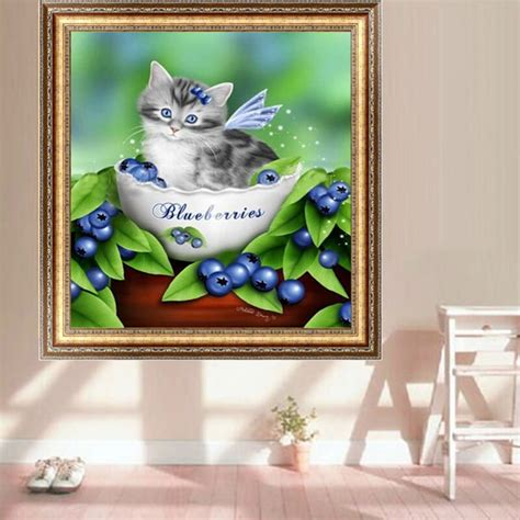 cat painting kit lovely cat 5d diy embroidery painting mosaic