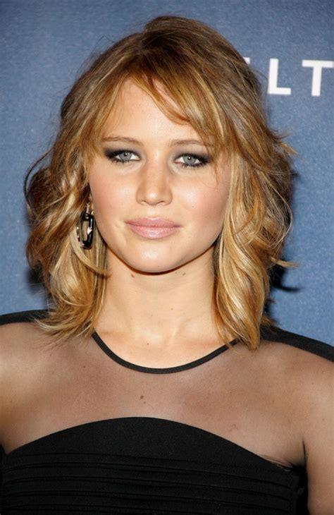medium length layered hairstyles with bangs