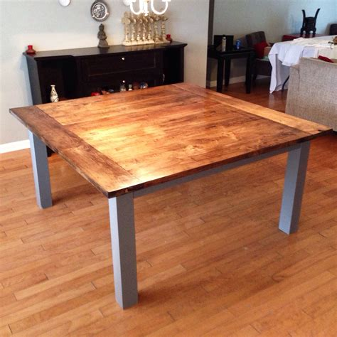 large stained maple solid wood dining table stained dark