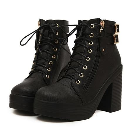 Chunky Heel Lace Up Boots the page you requested cannot be found