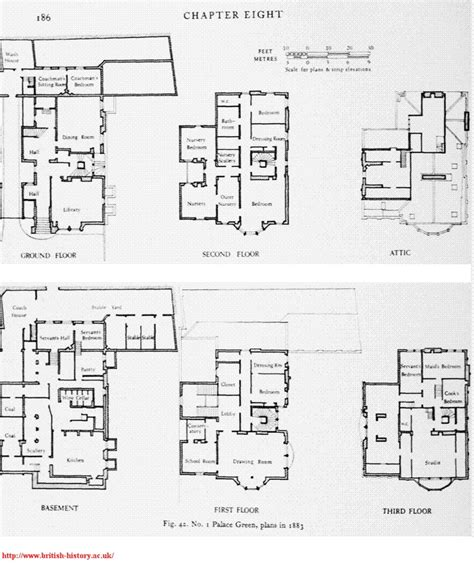 kensington palace 1a floor plan 1 palace green plans in 1883 kensington palace