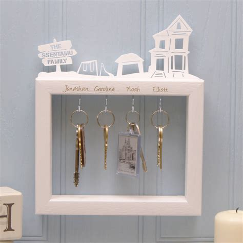 personalised large family key holder by urban twist