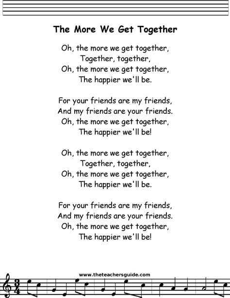 the more we get together lyrics   The More We Get Together