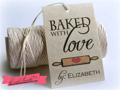 baked with love printable gift tags bridal shower favor tags