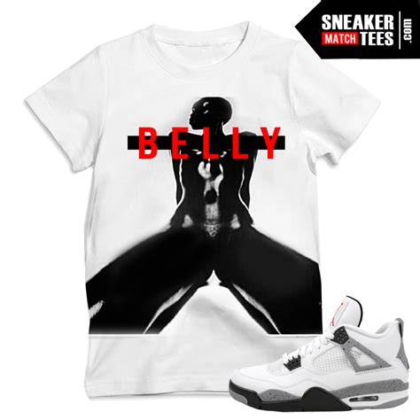 sneaker tees cement 4s retros match t shirts sneaker match tees