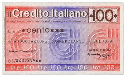 di credito italiano miniassegni classificati per catalogazione ed elenco