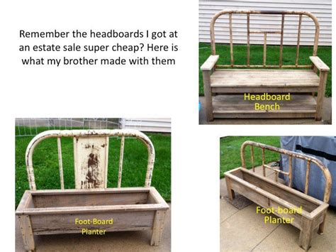 make a bench from a bed how to make a bench and planter from old bed frames flea