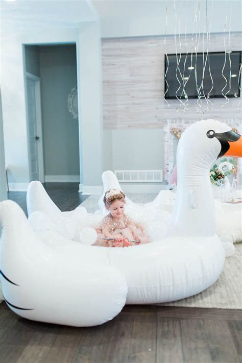 swan lake birthday party wedding party ideas  layer cake