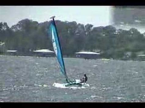 catamaran flying a hull flying a hull on a hobie wave catamaran how to save
