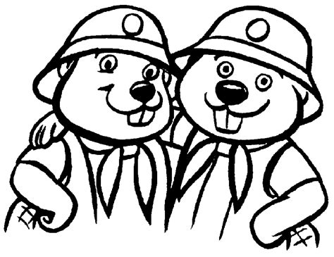 beaver coloring pages preschool beaver pictures for kids coloring home