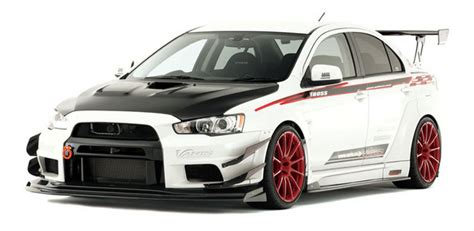 Bumper List Warnasoftshell Black Carbon varis wide kit for mitsubishi lancer evolution x