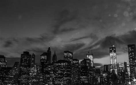 york city black  white mac wallpaper