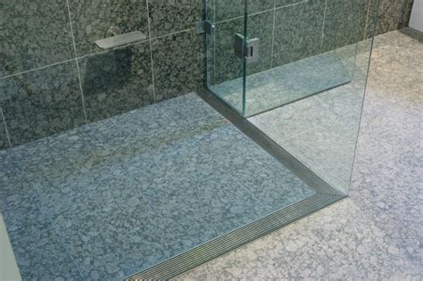 L Shaped Shower Screens Over Bath l shaped infinity drain contemporary bathroom