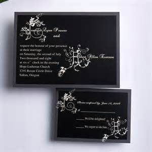 classic black and white affordable wedding invitation cards ewi186 as low as 0 94