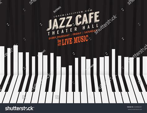 Jazz Music Poster Background Template Piano Stock Vector 234006391 Shutterstock Piano Website Template