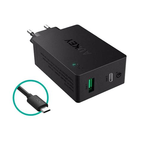 Aukey Charger Usb 2 Port Type C 2 4a Qc 3 0 Aipower Charging Hp jual aukey fast charger 2 usb port charge 3 0 with