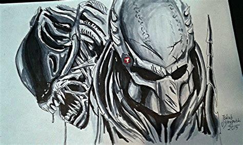 vs predator drawings vs predator speed drawing copic markers