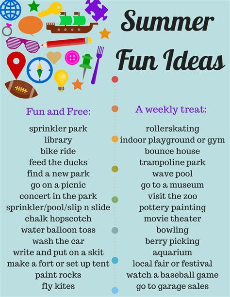10 Things I Enjoy Doing During The Summer by Savvy Spending Free Quot Summer Ideas Quot Printable List Of