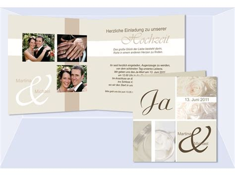 Klappkarten Hochzeitseinladungen by Einladungskarte Hochzeit Quot Romantik Quot Klappkarte Quadrat Creme