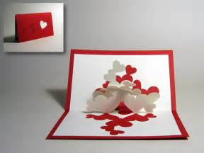 make a card kirigami quot pile of hearts quot pop up card happy folding