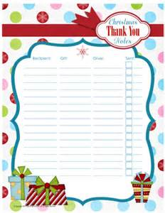 printable thank you note organizer organizing