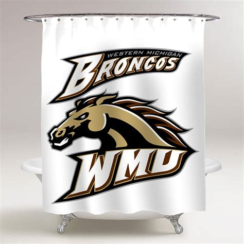 western michigan broncos bathroom shower curtain