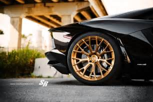 for your viewing delight black aventador on gold wheels