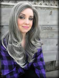 hair color for black salt pepper color wants to go blond lace front wig natural grey hair grey and blonde ombre by