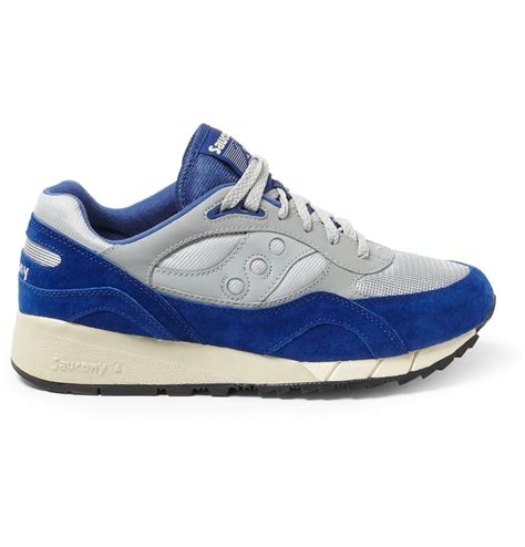 saucony sneakers mens saucony shadow suede and mesh sneakers in blue for lyst