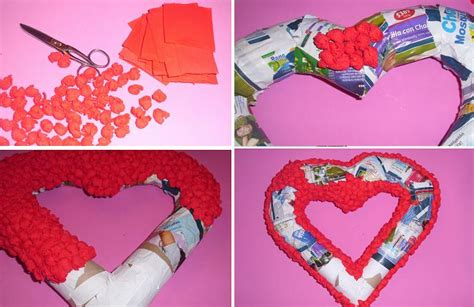 como hacer manualidades de san valentin manualidades como hacer un coraz 243 n con peri 243 dico para san valentin