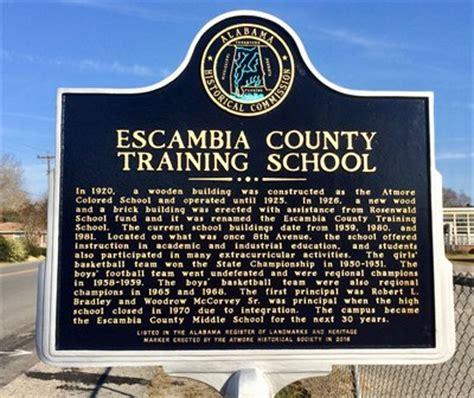 Escambia County Alabama Records Escambia County School Atmore Al Alabama Historical Markers On