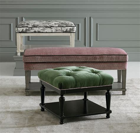 contemporary ottomans and benches custom ottomans and benches by bassett furniture