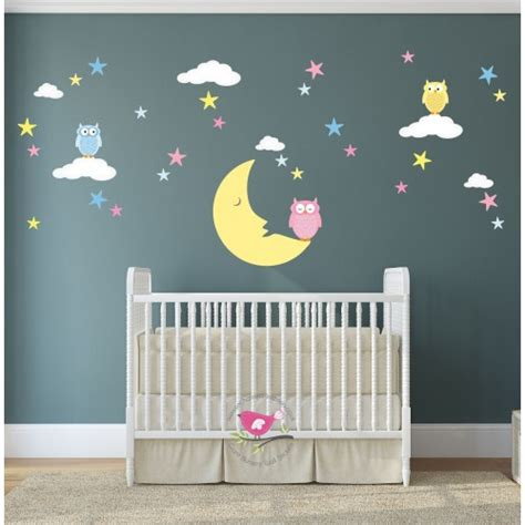 next nursery wall stickers wall designs nursery wall magical moon owls