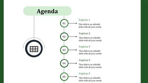 thick circled powerpoint agenda template slideegg