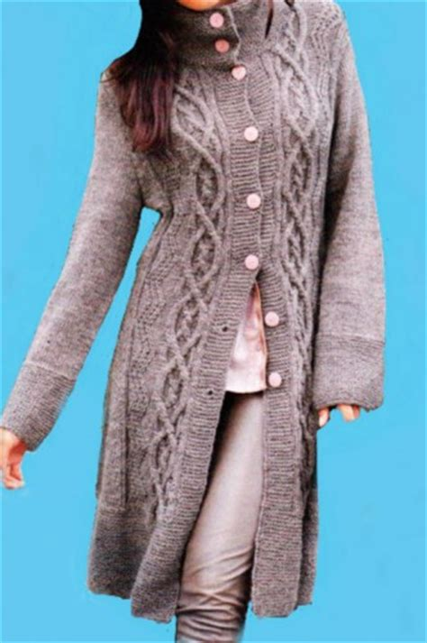 knit pattern long sweater coat hand knit long coat cable pattern alpaca cloud and merino