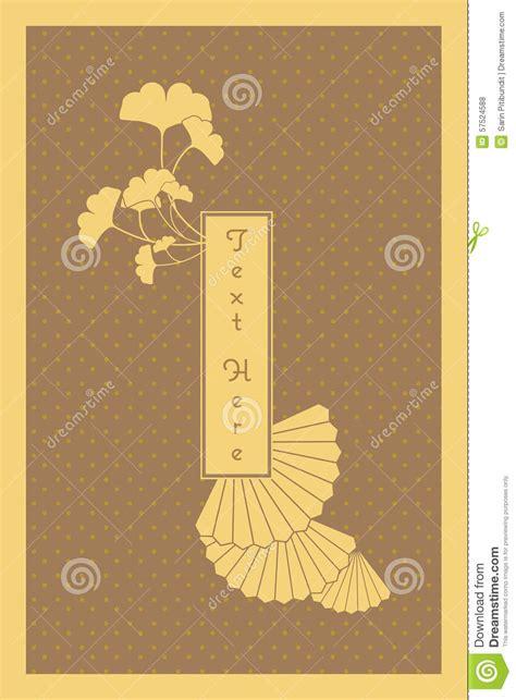 japanese panel card templates vintage golden japanese and invitation