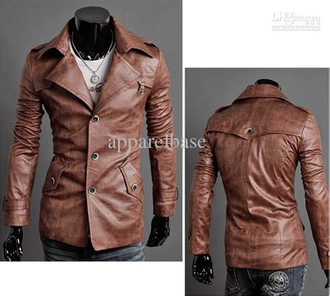 Jaket Semi Kulit Pu Leather Mondy mens pu leather jacket s slim fit leather suit s