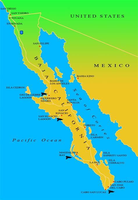 map of baja california map baja california california map