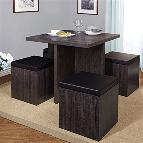 5 piece baxter dining set with storage ottoman multiple colors small dining table 5 piece baxter dining set with