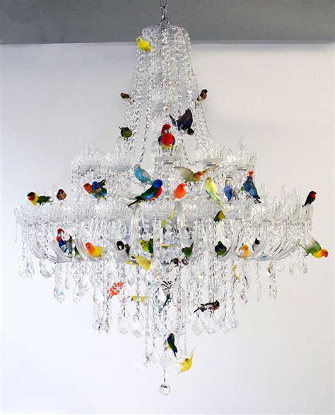 bird chandelier lighting colorful avian infused chandeliers bird chandelier