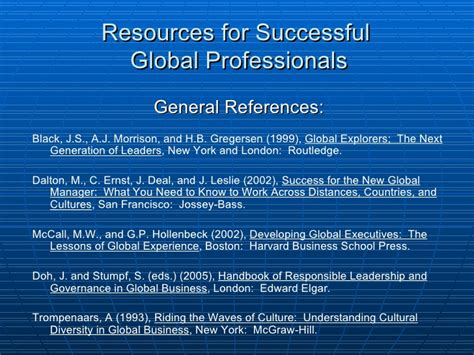 Attributes For Sucess In Mba Program by Ernest Scalberg Quot Attributes Of Successful Global