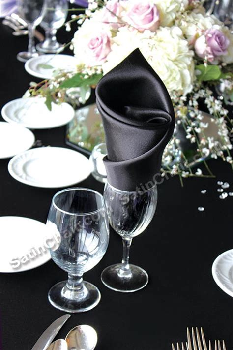 Glasses Table Setting Folded Napkins In Glasses The Bright Ideas