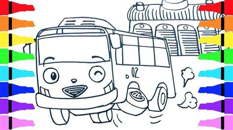 coloring page tayo tayo the little bus rani draw coloring for kids children