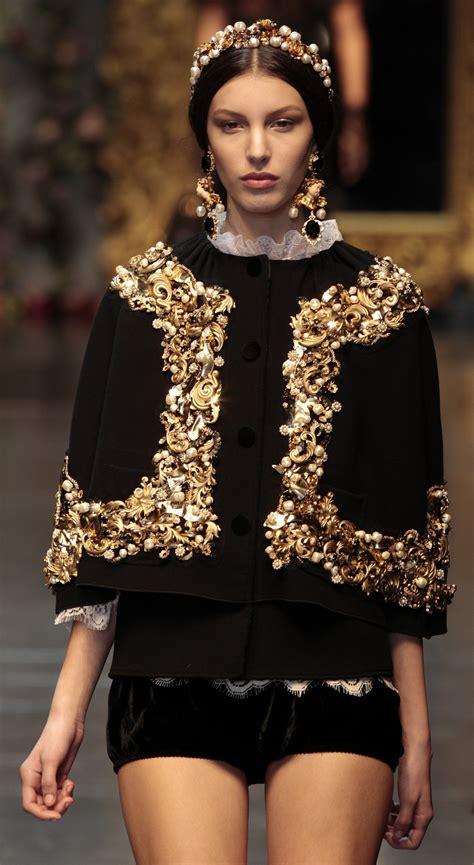 239470 dolce gabbana s baroque romanticism at 2012 milan