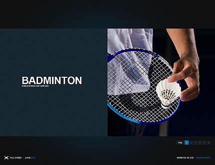 Template 30041 Badminton Club Flash Website Template Badminton Ppt Templates Free