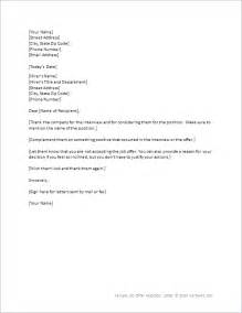 Rejection Letter Due To Salary Sle Letter Declining Offer Due To Low Salary